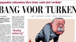 Σκίτσο με πιθηκόμορφη μορφή του Ερντογάν στο πρωτοσέλιδο της ολλανδικής De