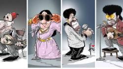 Les légendes de la musique vues par le caricaturiste algérien Le Hic