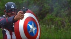 총알을 튕겨내는 캡틴 아메리카 방패를