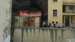 Incendie au siège la Direction de l'Education