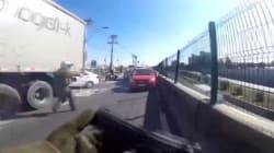 Κινηματογραφική καταδίωξη ληστών σε αυτοκινητόδρομο της
