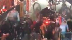 Monumentale chute collective lors d'une course cycliste à New