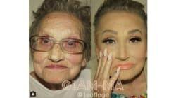 Elle maquille (un peu trop) sa grand-mère et Internet