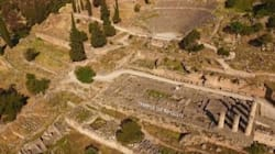 Ο αρχαιολογικός χώρος των Δελφών από