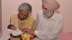 Ινδή απέκτησε το πρώτο της παιδί στα 70 της