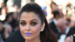 Aishwarya Rai a osé le rouge à lèvres bleu lavande sur le tapis rouge à