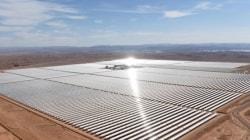 La centrale solaire de Ouarzazate filmée par un drone