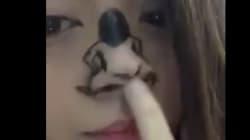 '코' 하나로 리한나의 트워킹 안무를