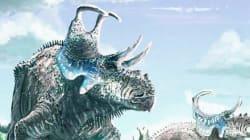 완전 새로운 뿔 달린 공룡 종이