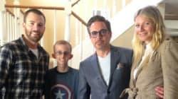 캡틴아메리카, 아이언맨, 페퍼가 백혈병 소년을 위해 모이다(사진,