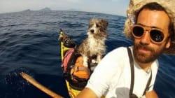 Παράτησε τα πάντα κι άρχισε να γυρίζει τη Μεσόγειο με το κανό και το σκύλο