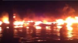 12 yachts détruits dans un incendie au port de Sidi-Fredj