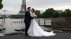 La crue rend les photos de mariage à Paris beaucoup moins