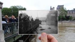 Il mélange sur ses photos la crue de 1910 et celle de