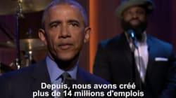 Barack Obama défend son bilan... en