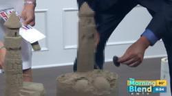 생방송 중 페니스 모양의 모래성을 만들어버렸다