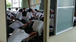 일본 중학교에서 학생들을 위한 '낮잠 시간'을