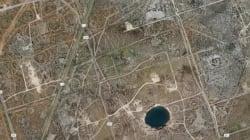 Μεγάλες τρύπες μεγαλώνουν με ραγδαίο ρυθμό σχηματίζοντας μεγάλη λίμνη στο