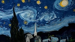 고흐의 '별이 빛나는 밤'을 물 위에
