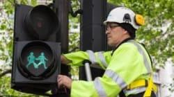 런던 신호등의 그림이