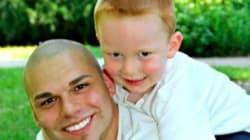 이 아빠가 머리에 문신을 한 이유는 오로지 아들을