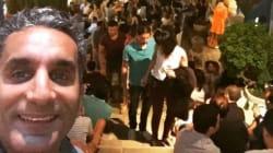 Le comédien égyptien Bassem Youssef visite Sidi Bou Saïd