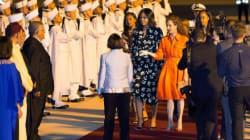 Michelle Obama accueillie par Lalla