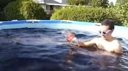 Τι θα συμβεί αν κάνετε μπάνιο σε μια πισίνα γεμάτη 5678 λίτρα Coca-Cola, 90 κιλά πάγο και έναν κουβά με