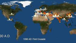 Η άνοδος και η πτώση των μεγάλων πόλεων της ανθρωπότητας. Μια ιστορία 6.000 ετών σε ένα βίντεο 1,5