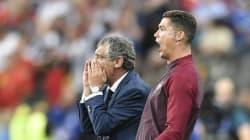 Quand Ronaldo stresse, il frappe le genou d'Adrien Silva