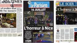 Les Unes des journaux après français l'attaque à
