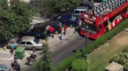 Σκηνές απείρου κάλλους στη Θεσσαλονίκη: Ξύλο ανάμεσα σε οδηγό τουριστικού λεωφορείου και