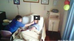 Κρυφή κάμερα «πιάνει» υπάλληλο σε οίκο ευγηρίας να προσπαθεί να πνίξει
