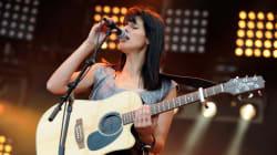 Souad Massi en concert à Ramallah, en