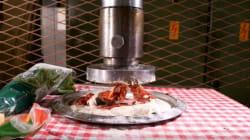 압착기로 만든 피자는 과연 어떤