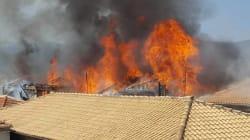 Υπό έλεγχο η πυρκαγιά στο κέντρο της Λευκάδας. Στις φλόγες παραδόθηκαν παραδοσιακά