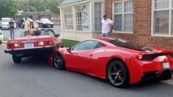 Όταν μια Mercedes καβάλησε μια Ferrari σε ένα από τα πιο δαπανηρά και χαζά ατυχήματα της