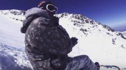Le surfeur Saad Abid fait la promotion du snowboard au Maroc dans une