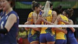 한국 여자배구 대표팀이 브라질에