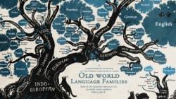 Το δέντρο των γλωσσών σε ένα εκπληκτικό infographic. Οι ρίζες, τα παρακλάδια, οι οικογένειες και οι