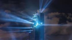 La folle inauguration de la plus haute tour de