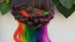 Το «κρυμμένο ουράνιο τόξο» είναι νέα η τάση στα μαλλιά που δεν περιμένατε ποτέ ότι θα