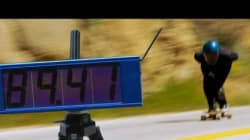 스케이트보드로 143km/h를 찍었다