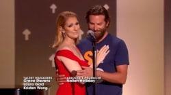 Céline Dion et Bradley Cooper ont partagé ce moment