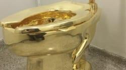 Des toilettes publiques en or au musée Guggenheim de New