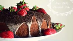 Σοκολατένιο κέικ με τσίλι, εσπρέσσο και μπισκότα