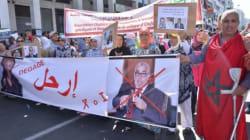 Marche anti-PJD: Driss Lachgar et Mehdi Bensaid crient au