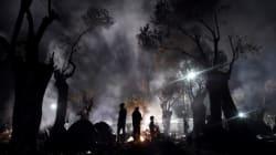 Γη του πυρός στο hot spot της Μόριας. Εικόνες καταστροφής, γυναίκες με παιδιά έτρεχαν να σωθούΓη του πυρός στο hot spot της Μ...