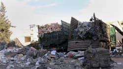 시리아 구호활동가들이 공습으로 사망하자 유엔이 구호활동을