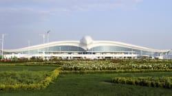 Το αεροδρόμιο του Τουρκμενιστάν που μοιάζει με «πουλί» και κόστισε 2,3 δισ. δολάρια ανοίγει τα φτερά
